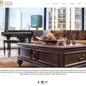 Christine McMichael Interiors Website Design