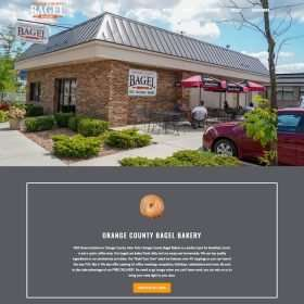 Orange County Bagel Website Design