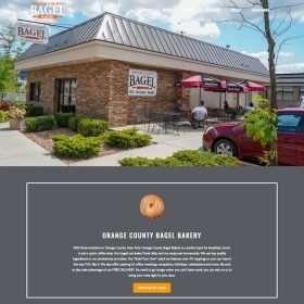 Orange County Bagel Website Design