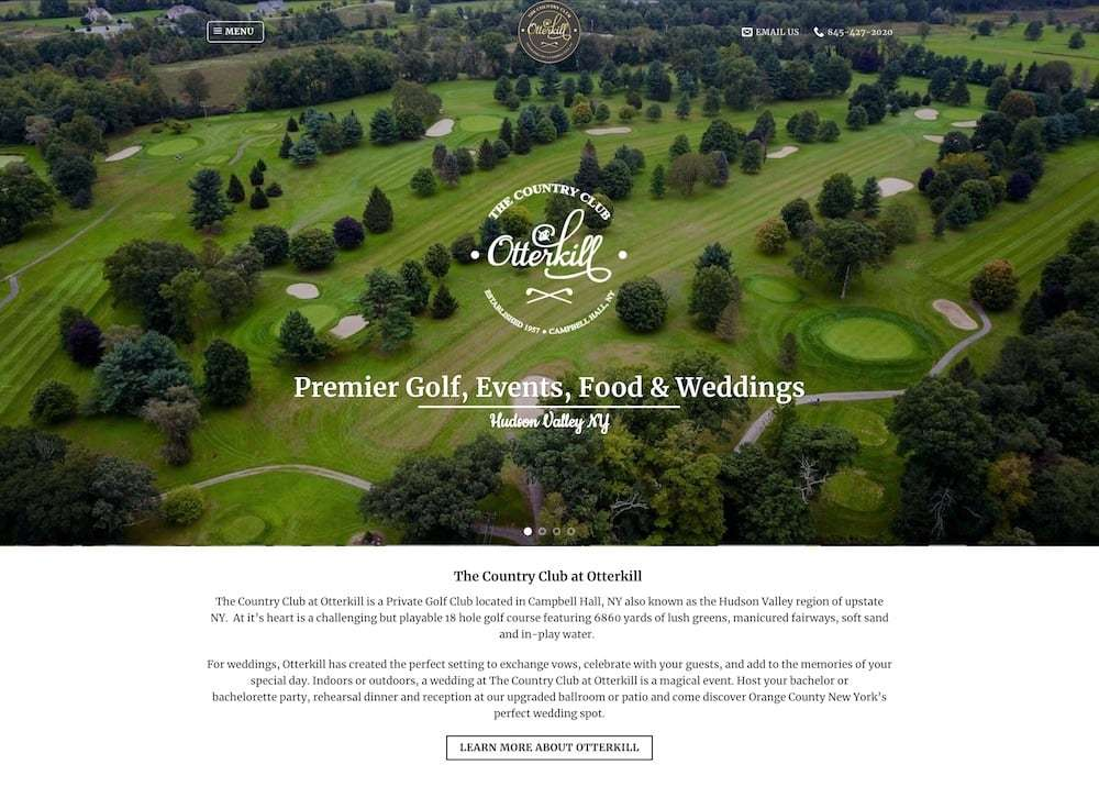 Otterkill Country Club Website Design