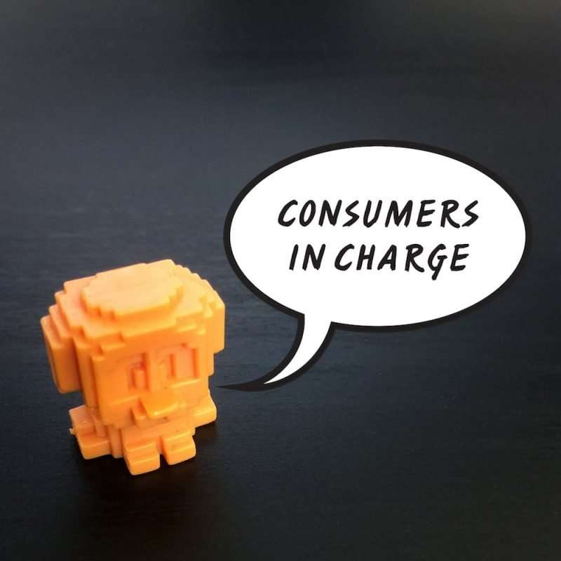 consumers in charge of marketing