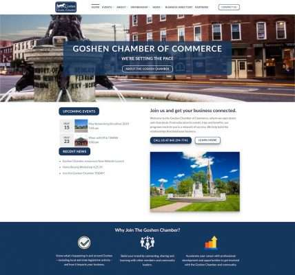 Goshen Chamber of Commerce Website Designed by Catskill Marketing