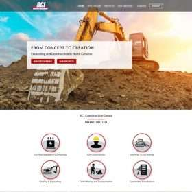 Robison Construction Group website design