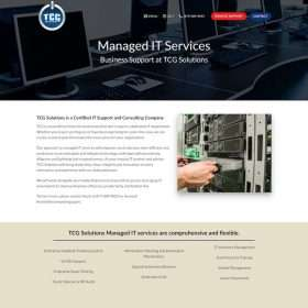 TCG Solutions Website Design