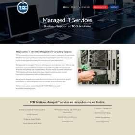 TCG Solutions Website Design