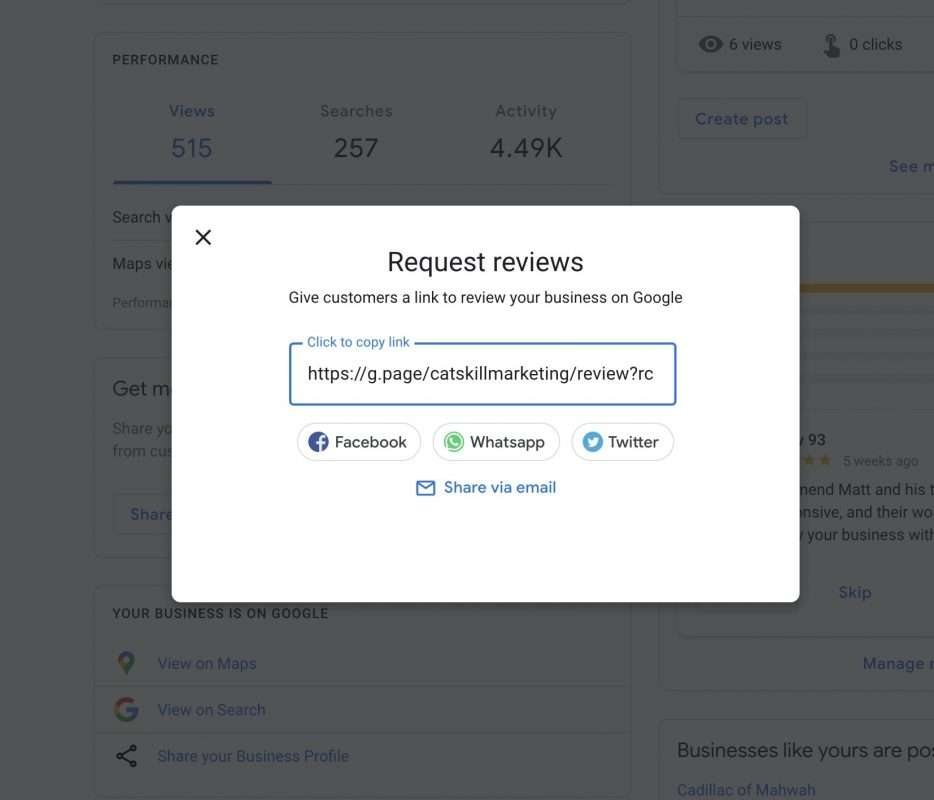 Google Business Review Link