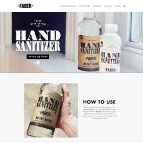 fabersanitizer-website design