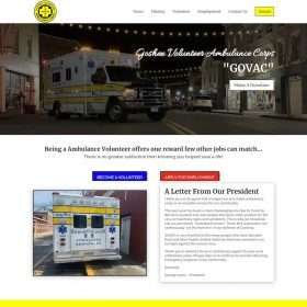Goshen Ambulance Website Design