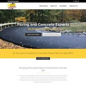 Catalystpaving-website design