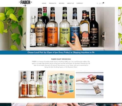 Fabereasydrinking-Shopify website design