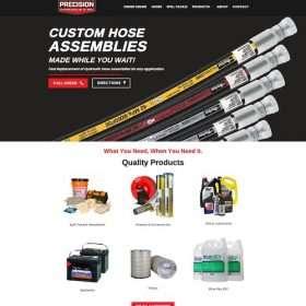 Precision hydraulicandoil-website design