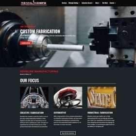 Rennline mfg-website design