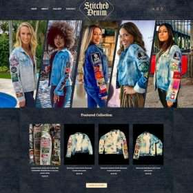 Stitcheddenim-e-commerce website design